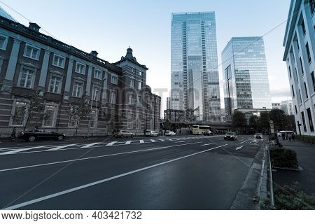 Tokyo - Nov 11 : Old Tokyo Railway Station Building On November 11, 2013. It Is The Main Intercity T