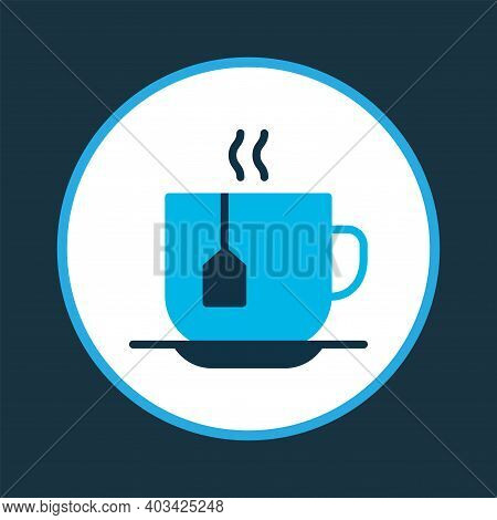Tea Icon Colored Symbol. Premium Quality Isolated Teacup Element In Trendy Style.