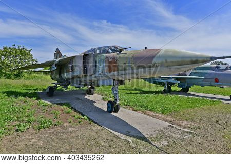 Ukraine, Poltava 06/06/2020. The Museum Of Long-range And Strategic Aviation Was Created On The Terr