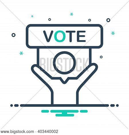 Mix Icon For Vote Politics Political Campaign
