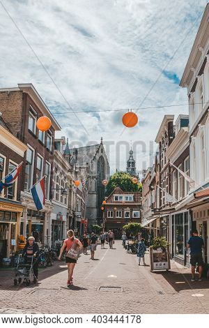 Gouda, Netherlands - July 20, 2020: Cheese Shop In Gouda