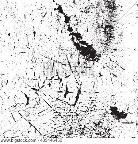 Old Cracked Peeled Distressed Overlay Texture For Your Design. Eps10 Vector.