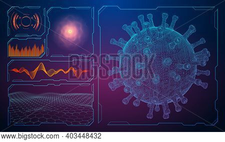Covid 19 Coronavirus Concept. Healthcare Medical Background Microbiology. Global Pandemic Background