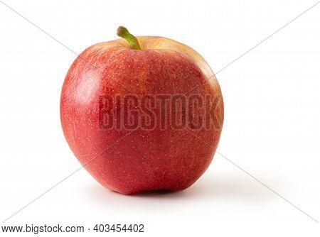 Ripe Gala Apple Isolated Against White Background