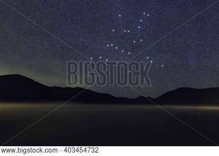 Hercules Star Constellation, Night Sky, Cluster Of Stars, Deep Space, Celestial Strongman, Strongman