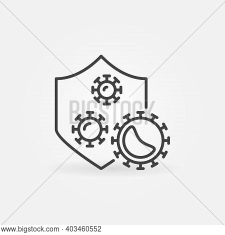 Vector Antibacterial Defence Concept Icon Or Symbol In Thin Line Style