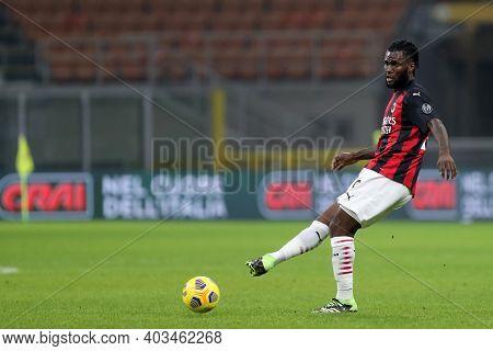 Milano, 12th January 2020. Franck Kessie Of Ac Milan  During The Coppa Italia Match Between Ac Milan