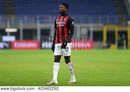 Milano, 12th January 2020. Rafael Leao Of Ac Milan  During The Coppa Italia Match Between Ac Milan A