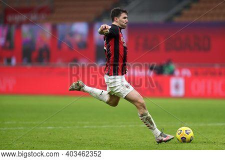 Milano, 12th January 2020. Alessio Romagnoli Of Ac Milan  During The Coppa Italia Match Between Ac M