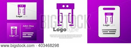 Logotype Metal Detector Icon Isolated On White Background. Airport Security Guard On Metal Detector
