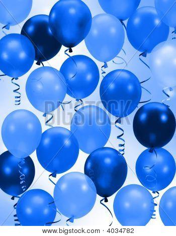 Поздравление шариками синий шарик