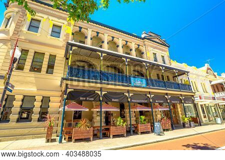 Fremantle, Western Australia - Jan 2, 2018: Fremantle West End Heritage Area, The Port Of Perth Is A