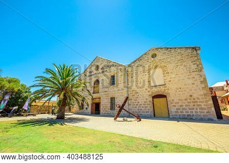 Fremantle, Western Australia - Jan 2, 2018: Front View Entrance Of Wa Shipwrecks Museum Recognized A