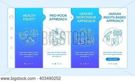 Health Programs Principles Onboarding Vector Template. Getting Proffecional Help For Poor People. Re
