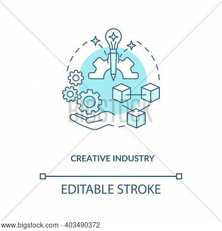 Creative Industry Concept Icon. Game Design Industry Benefits. Exploitation Of Information. Perspect