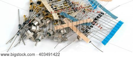 different radio electronic components high quality photo