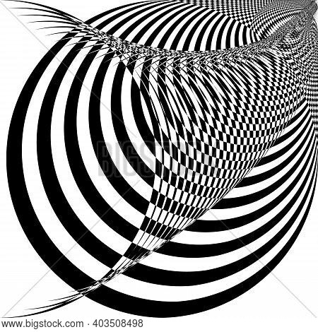 Intersected Trajectory Flyingsphere Illusion Abstract Background Black On Transparent Designer Cut