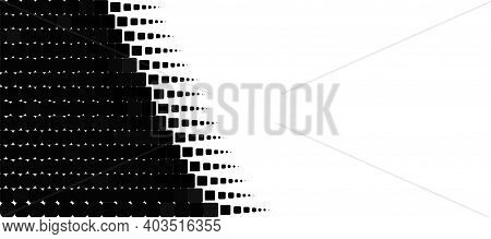 White, Black, Contrast Background. Minimal Abstract Art. Transformative Transitions Pattern Element.