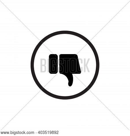 Dislike Button Icon Vector. Thumb Down Symbol Illustration
