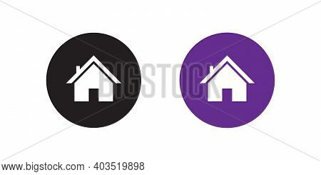 Homepage Icon Vector In Flat Style. House Symbol Illustration