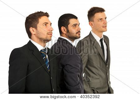 Business Men Team Looking Away
