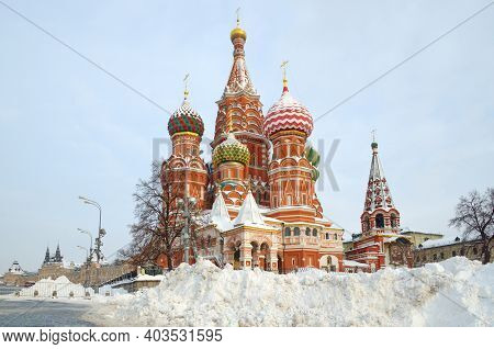 Cathedral Of The Intercession Of The Most Holy Theotokos, On The Moat (st. Basil's Cathedral) On Red