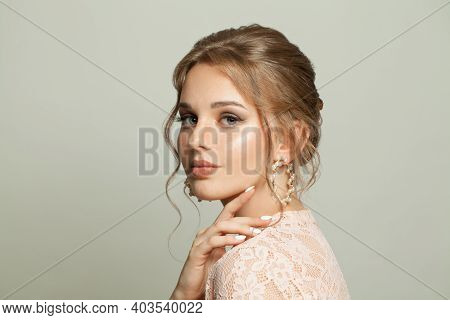 Young Beauty. Beautiful Young Woman On White Background