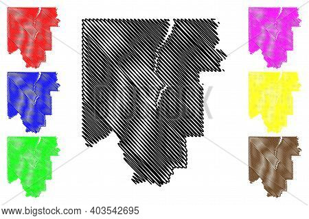 Lincoln County, Montana (u.s. County, United States Of America, Usa, U.s., Us) Map Vector Illustrati