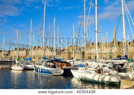 harbour of  Saint Malo, France