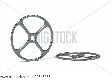 Clutch - Steel Plate, Clutch Element Isolated On White Background - 3d Render
