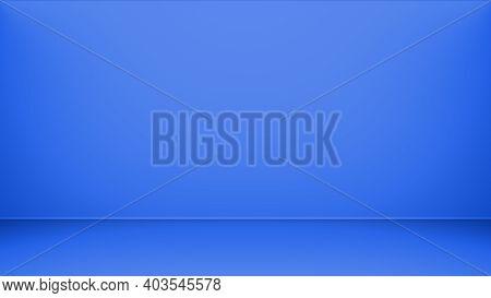 Hires Deep Blue Light Gradient Abstract Background. Abstract Light Wall Blue Gradient Background. 3d
