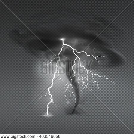 Wind Dust Spray Realistic Composition With Transparent Background And Image Of Typhoon Hurricane Clo