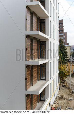 Construction Site - External Insulation Facade Therm. Heat-saving Technologies