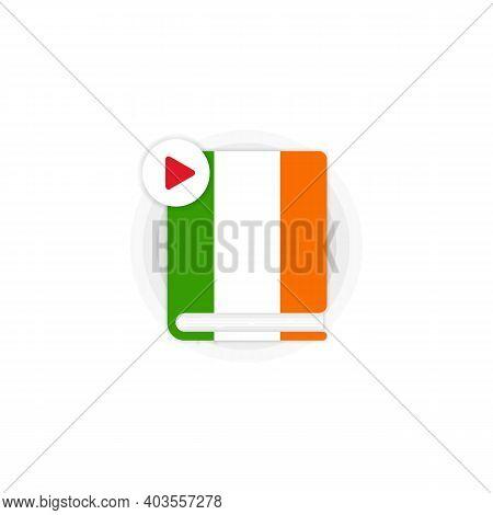Irish Language Course Audiobooks Icon. Irish Dictionary. Distance Education. Online Web Seminar. Vec