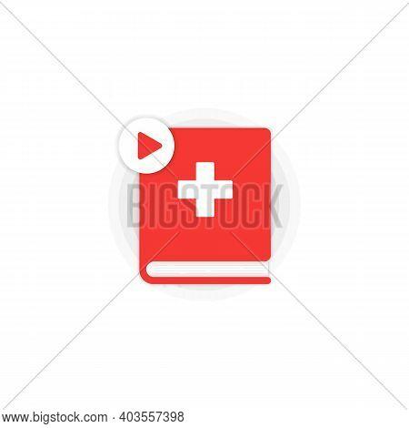 Swiss Language Online Course Icon Set. Distance Education. Swiss Dictionary. Audiobooks Concept. Vec