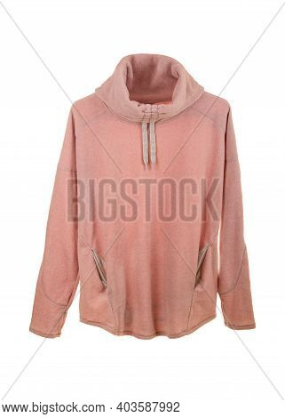Casual Women's Sports Sweater Isolated On A White Background.