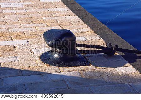 Mooring Bollard. Montenegro, Tivat City, Marina Porto Montenegro