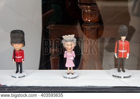 Stratford Upon Avon, Uk - April 30, 2018: The Collection Of The Queen Elizabeth Ii And Royal Guard D