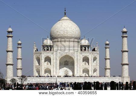 Taj Mahal Seventh Wonders of World Agra Uttar Pradesh India UNESCO World Heritage Site