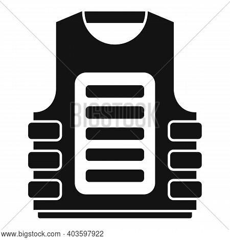 Bulletproof Vest Icon. Simple Illustration Of Bulletproof Vest Vector Icon For Web Design Isolated O