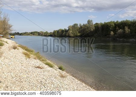 A View Of Left Side Of Ticino River In Italy