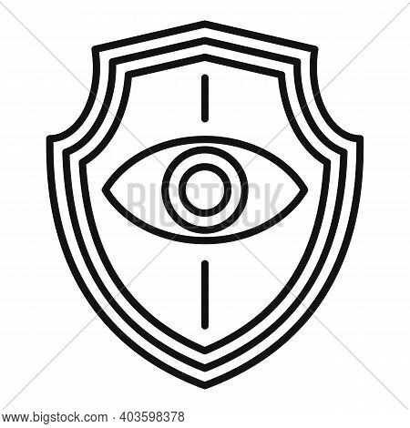 Personal Guard Eye Shield Icon. Outline Personal Guard Eye Shield Vector Icon For Web Design Isolate