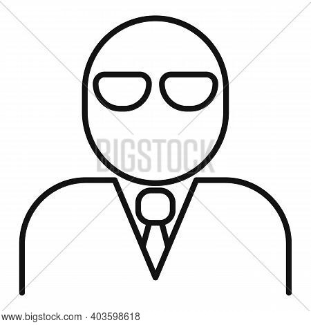Criminal Person Icon. Outline Criminal Person Vector Icon For Web Design Isolated On White Backgroun