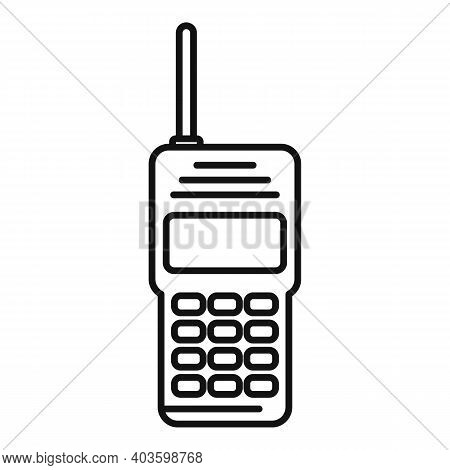 Guard Walkie Talkie Icon. Outline Guard Walkie Talkie Vector Icon For Web Design Isolated On White B