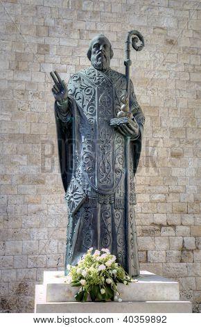 Statue of Saint Nicholas. Bari, Italy