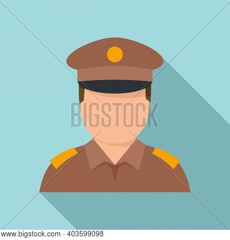 Indian Policeman Icon. Flat Illustration Of Indian Policeman Vector Icon For Web Design