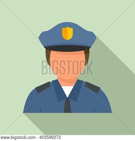 City Policeman Icon. Flat Illustration Of City Policeman Vector Icon For Web Design