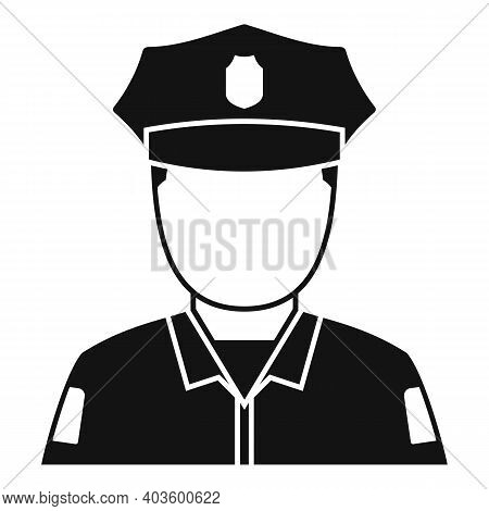 Afro American Policeman Icon. Simple Illustration Of Afro American Policeman Vector Icon For Web Des