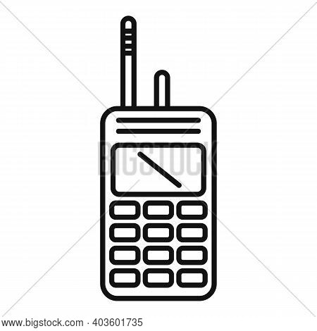 Policeman Walkie Talkie Icon. Outline Policeman Walkie Talkie Vector Icon For Web Design Isolated On