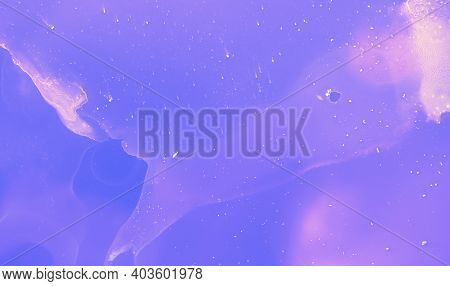 Graphic Ink Gradient. Pink Watercolor Digital Banner. Neon Oil Concept. Violet Graphic Paint Templat